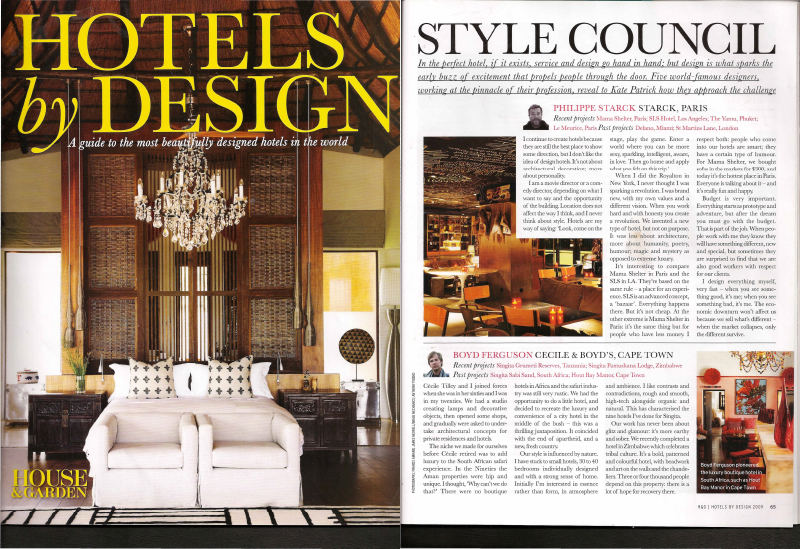 009 Hotels by Design UK House & Garden May 2009-1
